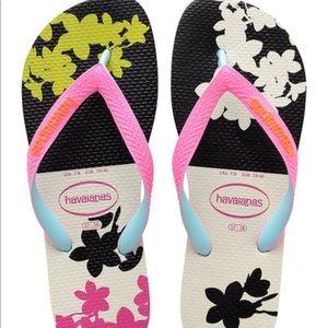 Havaianas White Black Top Fashion Flip-Flop Women